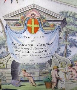 Kew print cartouche