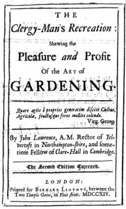 John Lawrence Clergyman's Recreation 1714